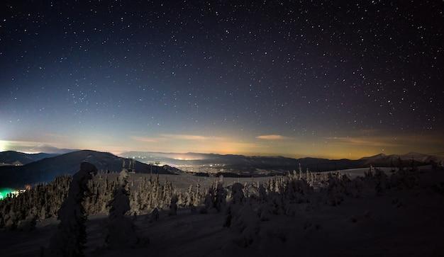 Wspaniałe widoki na europejski ośrodek narciarski