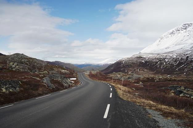 Wspaniały krajobraz norwegii