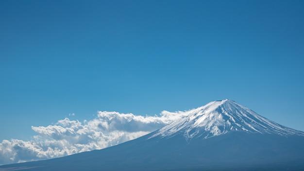 Wspaniały widok na górę fuji