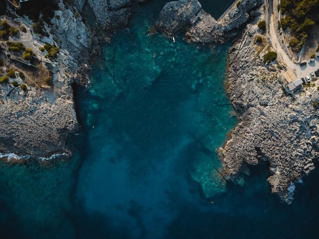 Wspaniały widok na marina di novaglie w puglia