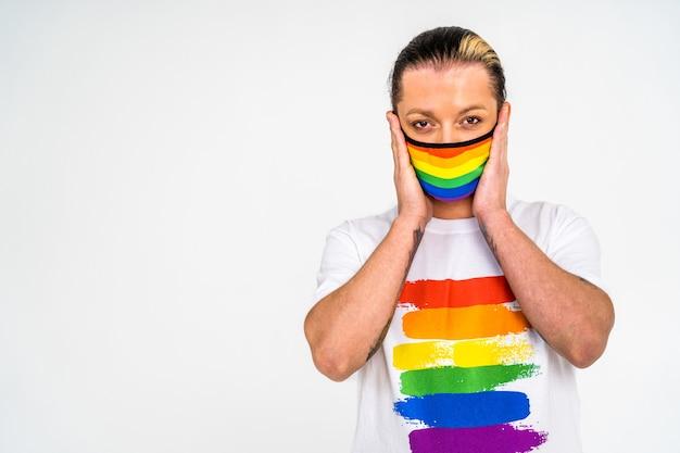 Wsparcie koncepcyjne portretów transseksualnych mężczyzn dla gejów, lesbijek transpłciowych i przeciw homofobii