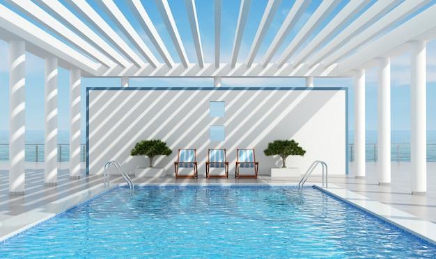 Współczesna willa wakacyjna z basenem