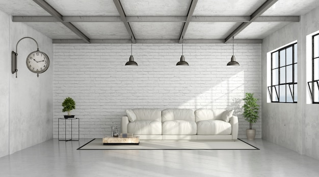 Współczesne wnętrze loft