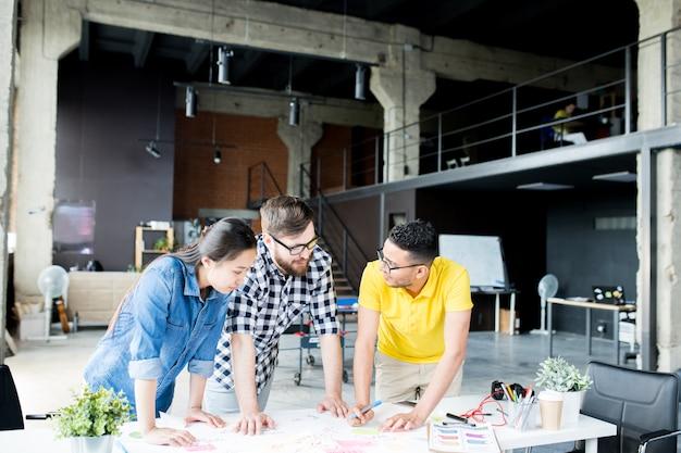 Współczesni przedsiębiorcy planujący projekty