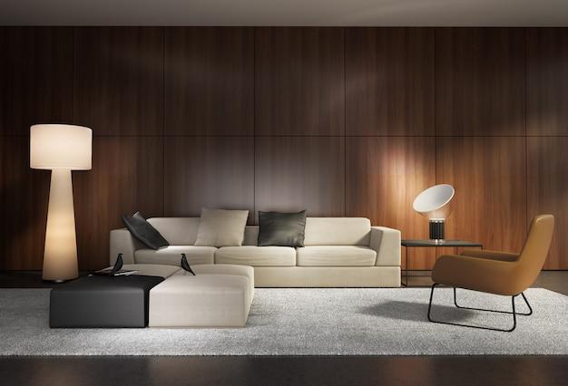 Współczesny nowoczesny system ścian salon