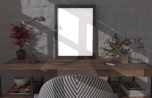 Współczesny salon 3d wnętrze i nowoczesne meble