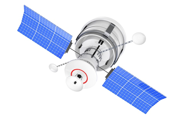 Współczesny świat globalna nawigacja satelitarna na białym tle. renderowanie 3d