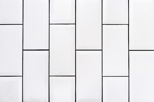 Wspólne vintage białe płytki ceramiczne tło pionowe zdjęcie