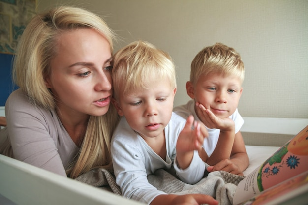 Wspólny wypoczynek matki z dziećmi