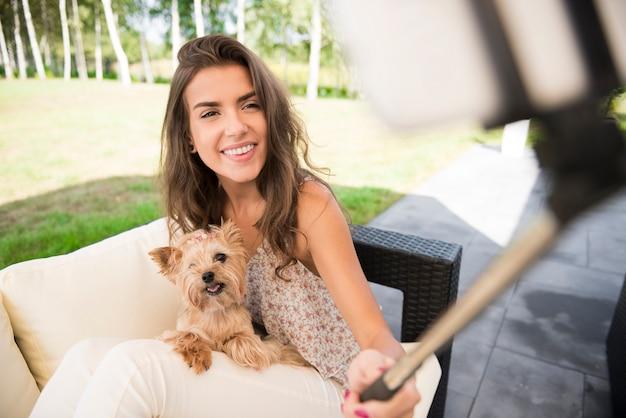Wspomnienia ze słonecznego dnia z psem