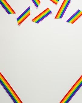Wstążka i taśmy w kolorach lgbt