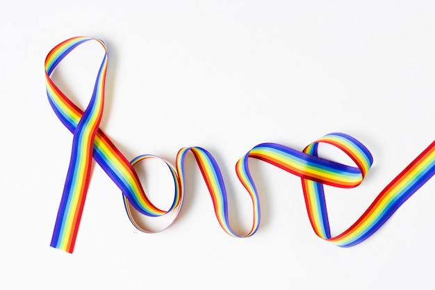 Wstążka w koncepcji kolorów tęczy