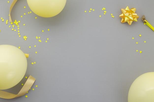 Wszystkiego najlepszego z okazji urodzin, dekoracja płaska świeckich.