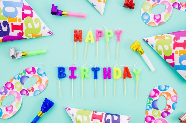Wszystkiego najlepszego z okazji urodzin świeczki z partyjnym kapeluszem