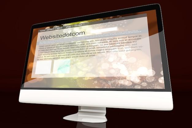 Wszystko w jednym komputerze wyświetlającym ogólną witrynę internetową.