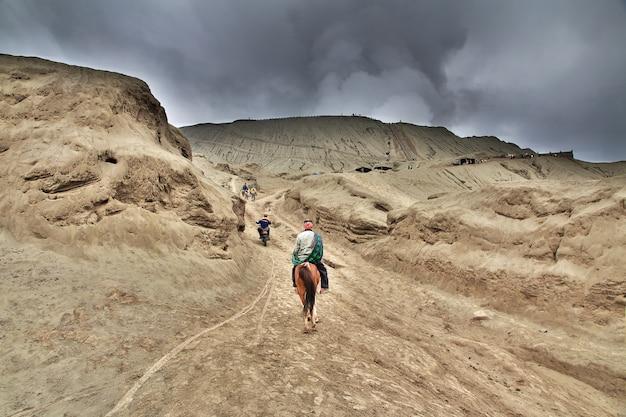 Wulkan bromo w jawa wyspie, indonezja