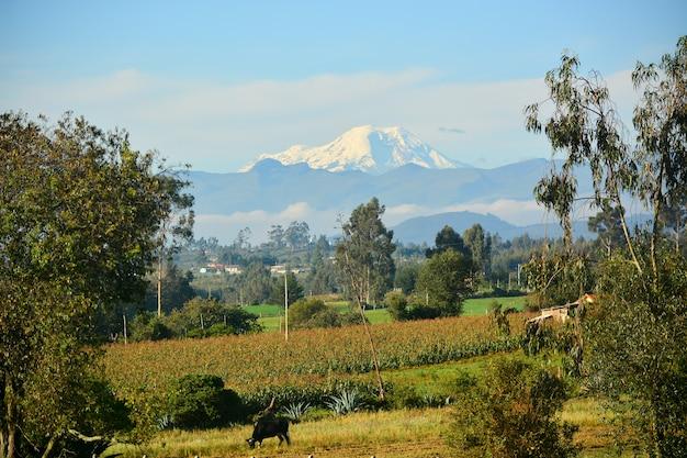 Wulkan chimborazo, ekwador, najbliższy punkt słońca
