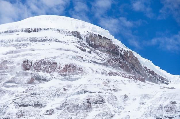 Wulkan chimborazo pokryte śniegiem