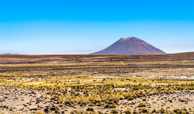 Wulkan misti w regionie arequipa w peru