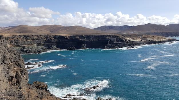 Wulkaniczna plaża la pared czy playa de la pared na fuerteventurze