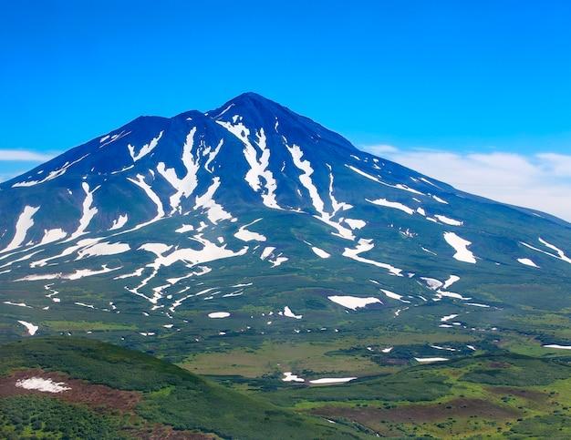 Wulkaniczny krajobraz kamczatki