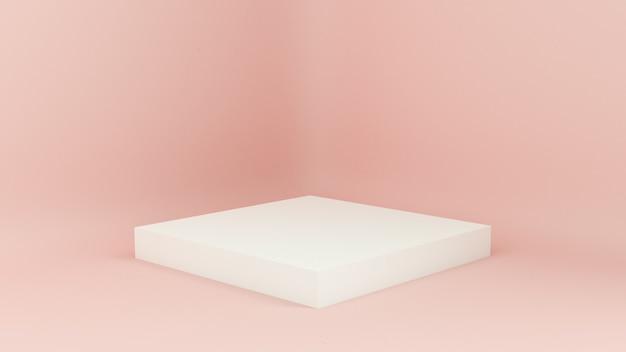 Wybieg renderowany w 3d. platformy do prezentacji produktów, minimalistyczna kompozycja mokap