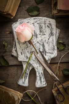 Wyblakła różowa róża