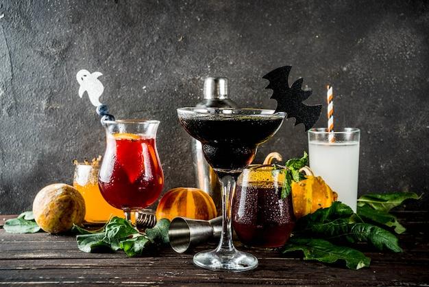 Wybór drinków na halloween