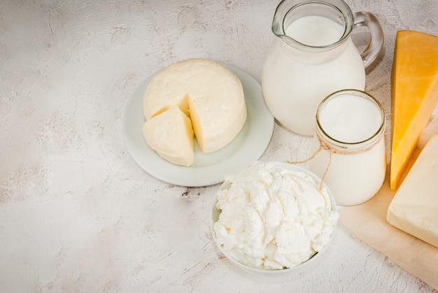 Wybór produktów mlecznych
