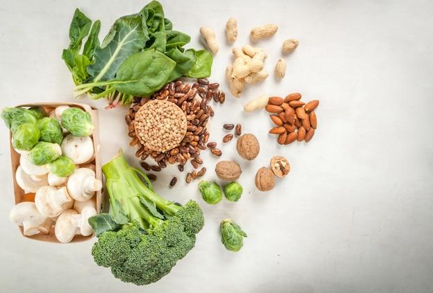 Wybór produktów o wysokiej zawartości białka roślinnego