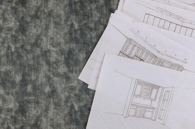 Wybór przebudowy na niestandardowy projekt architektoniczny kuchni powoduje rysunek projektu kuchni