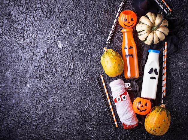 Wybór różnych napojów halloweens na imprezę