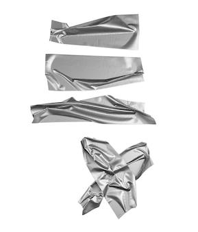 Wybór srebrnej taśmy na białym tle