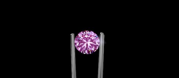 Wybrane różowe diamenty błyszczące drogie i rzadkie do wyrobu biżuterii