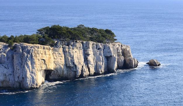 Wybrzeże calanque południowej francji