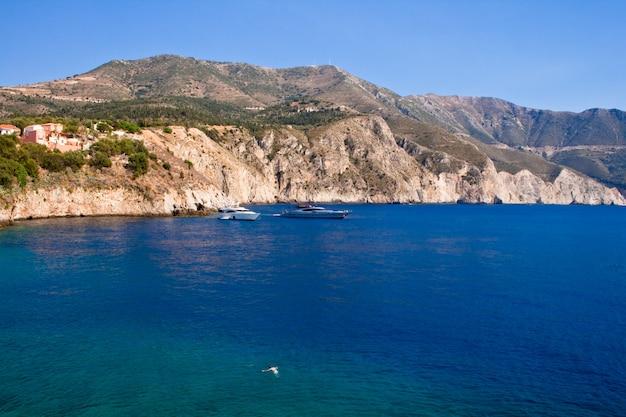 Wybrzeże kefalonia, grecja
