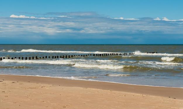 Wybrzeże morza bałtyckiego na łotwie