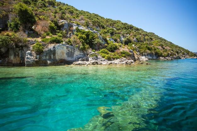 Wybrzeże morza śródziemnego, turcja.