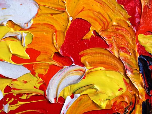 Wyciągnąć rękę kolorowe farby olejnej abstrakcyjne tło i tekstury.