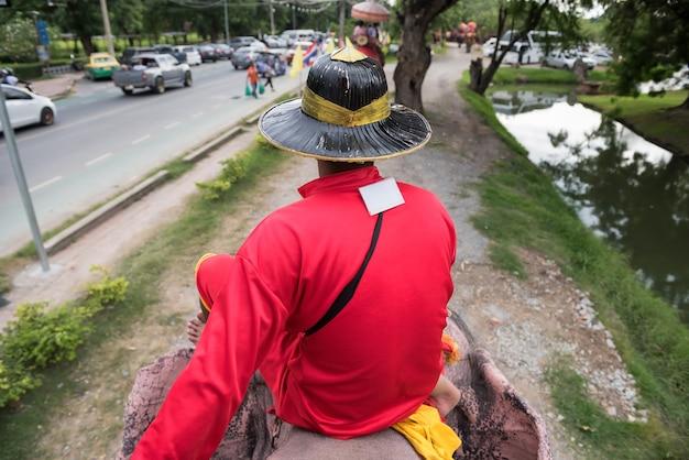 Wycieczka na przejażdżkę słonia w ayutthaya