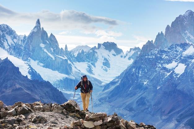 Wycieczka po górach patagonii, argentyna