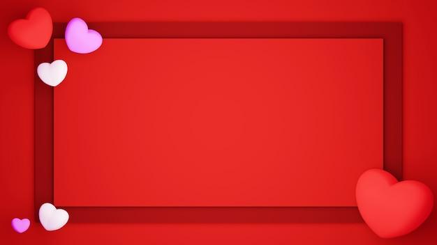 Wycinane z papieru tło ustawione na czerwonym tle koncepcja uroczystości dla szczęśliwych kobiet, taty mamy, słodkiego serca, banera lub broszury projekt karty z pozdrowieniami urodzinowymi
