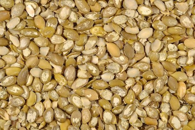 Wyczyszczone tło nasion dyni