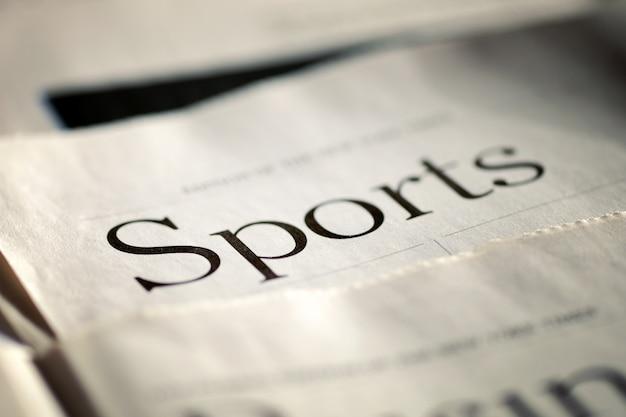Wydanie codziennej gazety dział sportowy