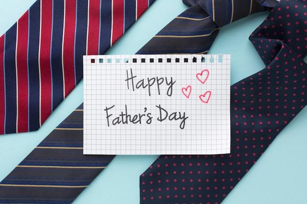Wydarzenie z okazji dnia ojca z kolorowymi wiązaniami
