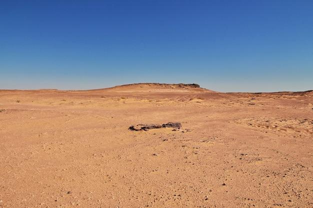 Wydmy w timimun porzucili miasto na saharze, algieria