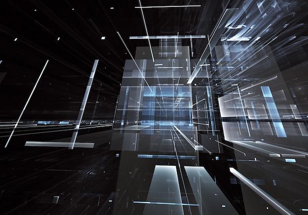 Wygenerowane komputerowo abstrakcyjne tło