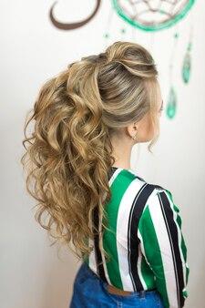 Wygląd fryzury z tyłu stylisty włosów