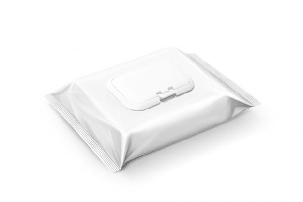 Wyizolowana saszetka na mokre chusteczki do pakowania