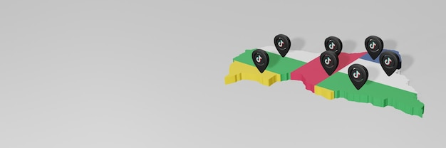 Wykorzystanie mediów społecznościowych i tik tok w afryce środkowej do infografik w renderowaniu 3d